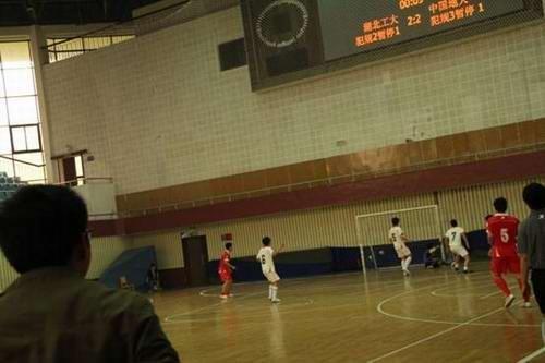 013特步中国大学生5人制足球联赛湖北赛区冠军图片
